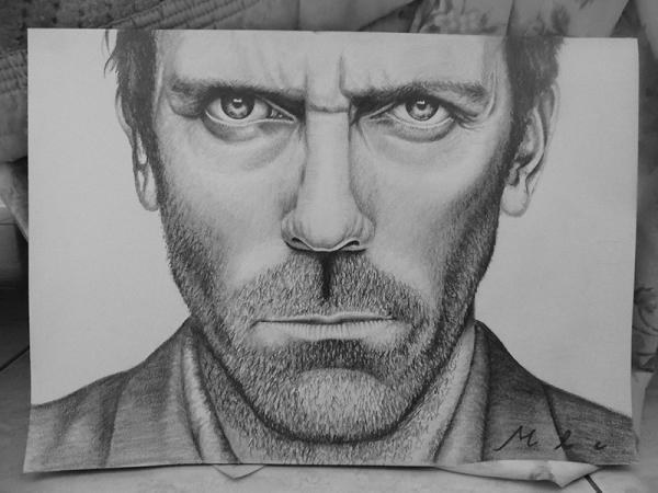Hugh Laurie by WalkingCrayon